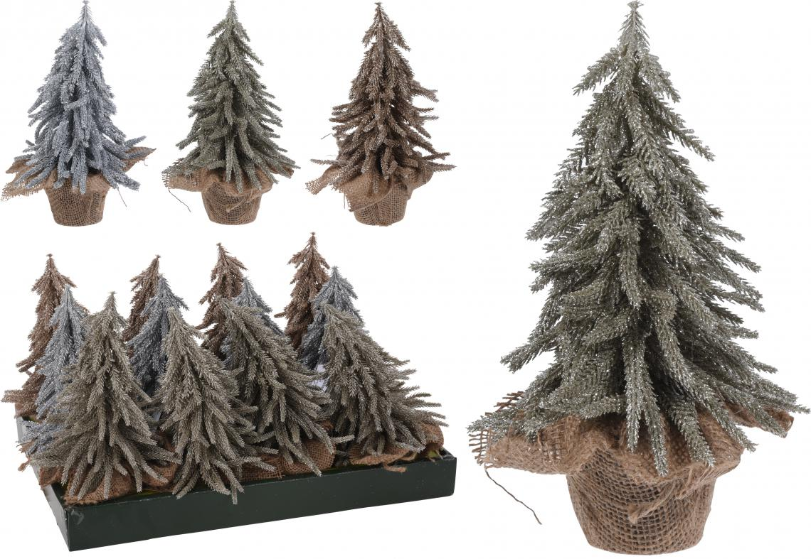 XMAS TREE, WITH GLITTER, IN JAR WRAPPED IN JUTE, POLYETHYLEEN, SIZE: 15X15X28CM, WEIGHT: 220 GRAM, 3 ASSORTED COLOURS. QUANTITY OF PINES: 134PCS, 12PCS PACKED IN SHELF BOX, ASS.:3 COLOURS(CHAMPAGNE GOLD/SILVER/DARK CHAMPAGNE)/ 160X160X280MM, HANGTAG - photo 53