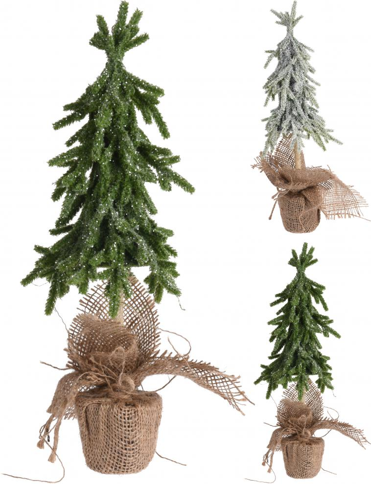 XMAS TREE, WITH GLITTER, IN JAR WRAPPED IN JUTE, POLYETHYLEEN, SIZE: 15X15X28CM, WEIGHT: 220 GRAM, 3 ASSORTED COLOURS. QUANTITY OF PINES: 134PCS, 12PCS PACKED IN SHELF BOX, ASS.:3 COLOURS(CHAMPAGNE GOLD/SILVER/DARK CHAMPAGNE)/ 160X160X280MM, HANGTAG - photo 56